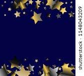 horizontal border from confetti ...   Shutterstock .eps vector #1148043209