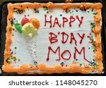 happy birthday mom sheet cake... | Shutterstock . vector #1148045270