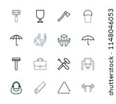handle icon. collection of 16... | Shutterstock .eps vector #1148046053