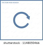 redo symbol with shadow on a... | Shutterstock .eps vector #1148050466
