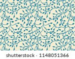 hand drawn ivy and vines in... | Shutterstock . vector #1148051366