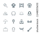 accessory icon. collection of... | Shutterstock .eps vector #1148055653