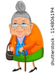 old lady  jpeg version... | Shutterstock .eps vector #114806194