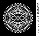 mandala pattern white good mood | Shutterstock .eps vector #1148070356
