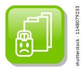 file folder. locked document... | Shutterstock .eps vector #1148079233