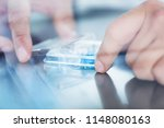 scientist test tubes ... | Shutterstock . vector #1148080163
