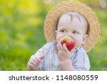portrait of a little boy... | Shutterstock . vector #1148080559