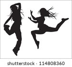 young girls   silhouette figure ... | Shutterstock .eps vector #114808360