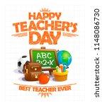 happy teacher's day vector... | Shutterstock .eps vector #1148086730