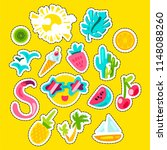 vector tropical summer patches... | Shutterstock .eps vector #1148088260