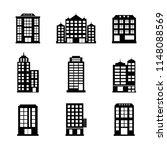 buildings icons set | Shutterstock .eps vector #1148088569