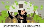 rich money man | Shutterstock .eps vector #1148088956