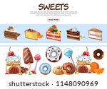 cartoon sweet products... | Shutterstock .eps vector #1148090969