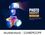 vector glowing neon 3d style... | Shutterstock .eps vector #1148092199