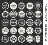 retro vintage badges and labels ... | Shutterstock .eps vector #1148098910
