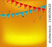 celebration background with red ... | Shutterstock .eps vector #1148100620