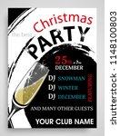 christmas party invitation... | Shutterstock .eps vector #1148100803