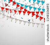 colorful birthday bunting flags ... | Shutterstock .eps vector #1148106893