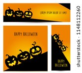 simple halloween pumpkin vector ... | Shutterstock .eps vector #1148112260