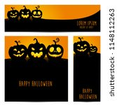 simple halloween pumpkin vector ... | Shutterstock .eps vector #1148112263