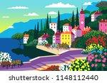 mediterranean romantic... | Shutterstock .eps vector #1148112440