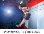 muscle up exercise young man... | Shutterstock . vector #1148112533