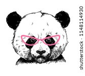 vector illustration of a panda... | Shutterstock .eps vector #1148114930