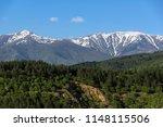 amazing spring landscape near... | Shutterstock . vector #1148115506