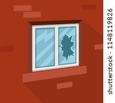 white window broken  red brick... | Shutterstock .eps vector #1148119826