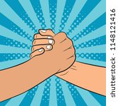 brotherly handshake... | Shutterstock .eps vector #1148121416