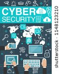 cyber security and private...   Shutterstock .eps vector #1148123210