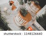 copper cake desert station | Shutterstock . vector #1148126660