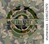 miscellaneous written on a camo ... | Shutterstock .eps vector #1148127470