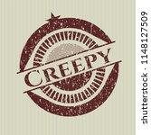 red creepy distress grunge seal | Shutterstock .eps vector #1148127509
