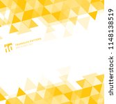 abstract yellow triangles... | Shutterstock .eps vector #1148138519