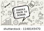 doodle back to school | Shutterstock .eps vector #1148145470