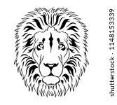 head of  lion in vintage...   Shutterstock .eps vector #1148153339