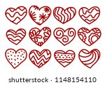icon heart  vector | Shutterstock .eps vector #1148154110