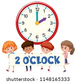 2 o'clock and students... | Shutterstock .eps vector #1148165333