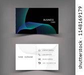 modern business card template... | Shutterstock .eps vector #1148169179