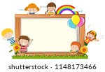 a frame board with happy... | Shutterstock .eps vector #1148173466