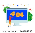 404 error page. web site on...