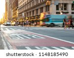new york city tour bus driving... | Shutterstock . vector #1148185490