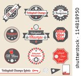 vector set  vintage volleyball... | Shutterstock .eps vector #114818950