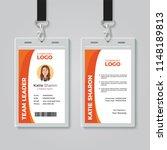orange and white corporate id... | Shutterstock .eps vector #1148189813