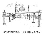 vector simple sketchy nabawi... | Shutterstock .eps vector #1148195759