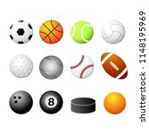 sports set illustration icon | Shutterstock . vector #1148195969