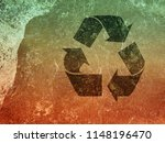 recycle sign old paper texture... | Shutterstock . vector #1148196470