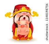 chinese god of wealth and... | Shutterstock .eps vector #1148198756