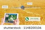 smart farming  hi tech...   Shutterstock . vector #1148200106